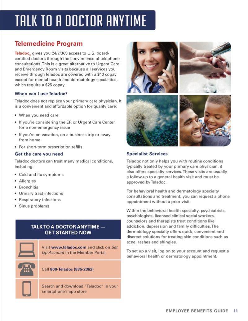 Telemedicine Program flyer
