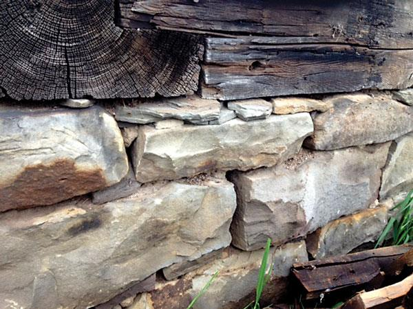 Historic Fact: Before around 1910 almost all barn foundations were built from local stone.