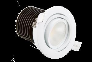 Adjustable complete downlight module