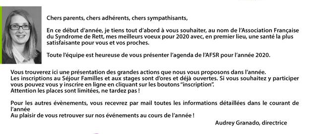 Edito de Audrey Granado directrice de l'Association Francaise du syndrome de rett