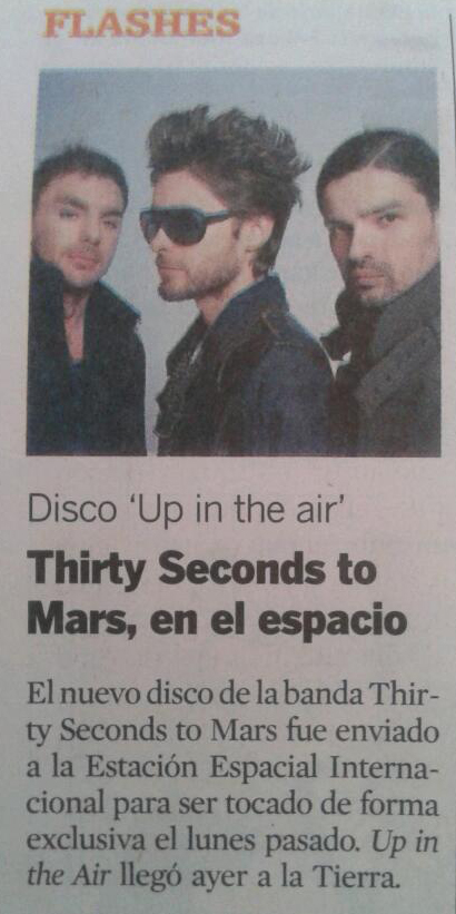 MARS in ECUADOR NEWSPAPER