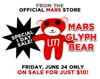 Red Glyph Bear sale