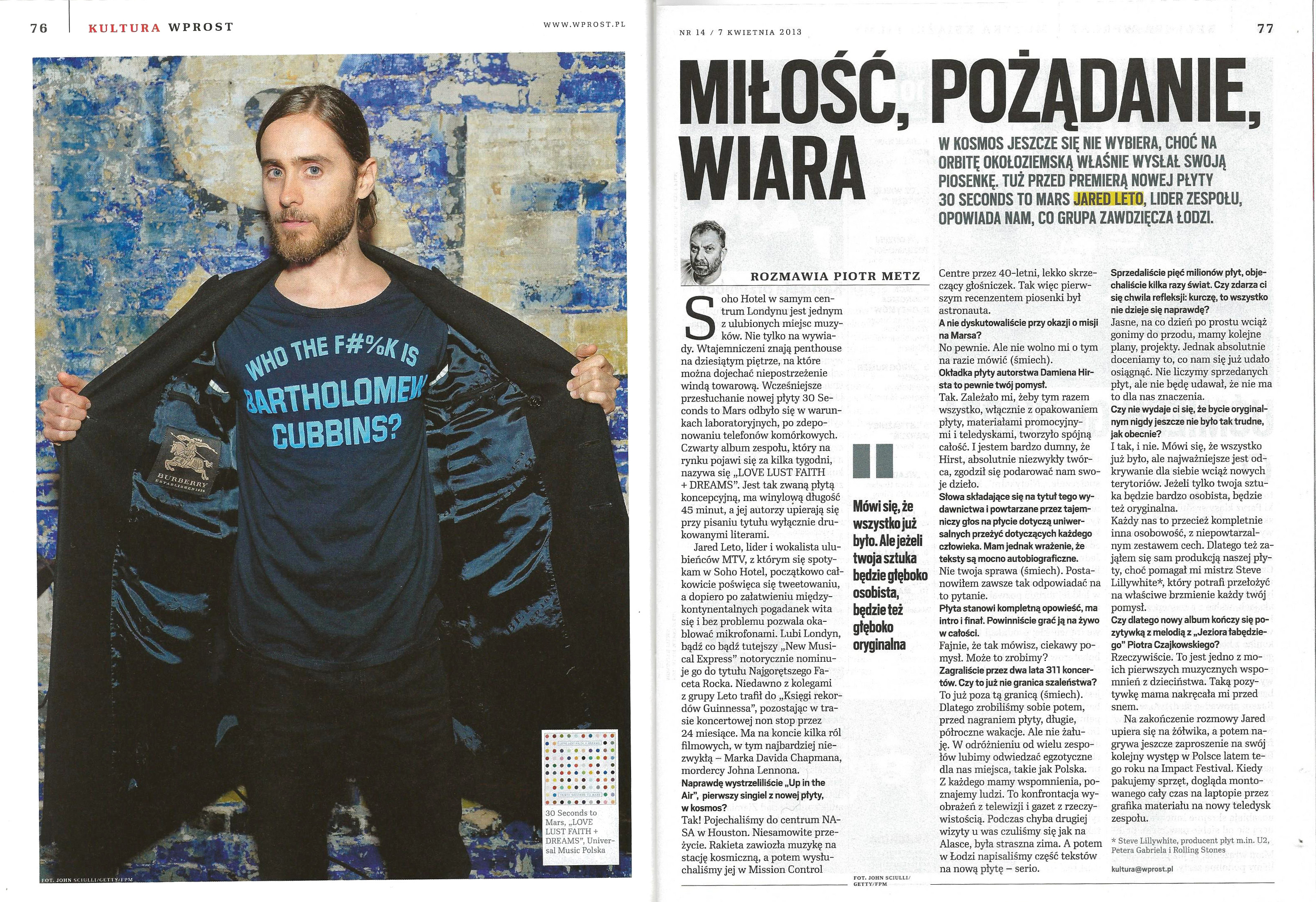 JARED in WPROST, Poland