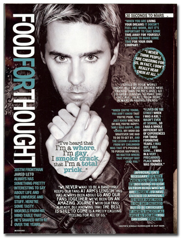 Jared in Kerrang!