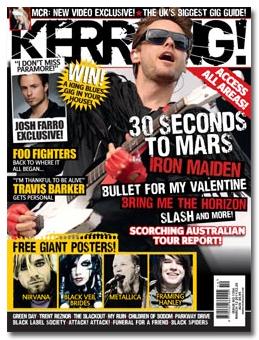 MARS on Kerrang! Magazine Cover