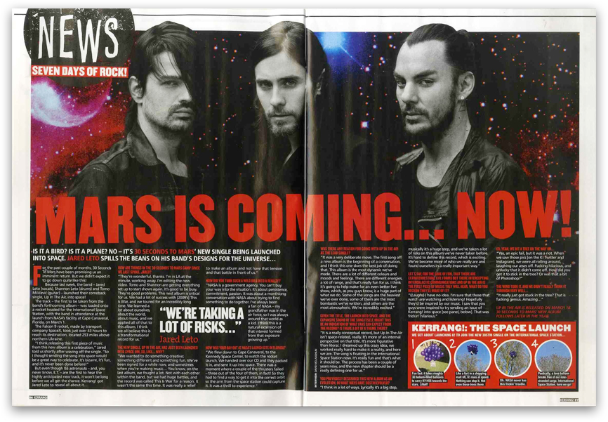 MARS in Kerrang! Magazine
