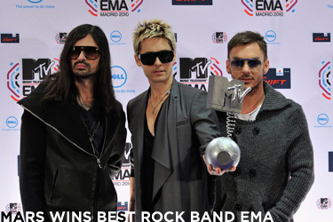 Mars Win Best Rock Band EMA