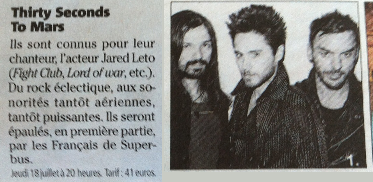 MARS in NICE MATIN, APRIL 13 EDITION