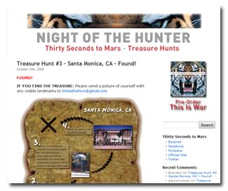 Night of the Hunter Treasure Hunts