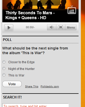 Vote for the next Single!