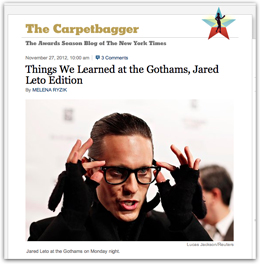 Things We Learned at the Gothams, Jared Leto Edition