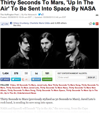 MARS in the Huffington Post