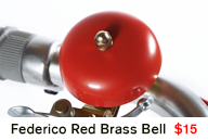 Federico Red Brass Bell