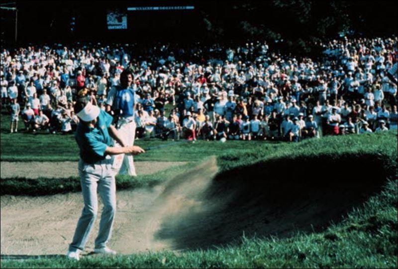 Bob Tway - 1986 PGA Championship bunker shot