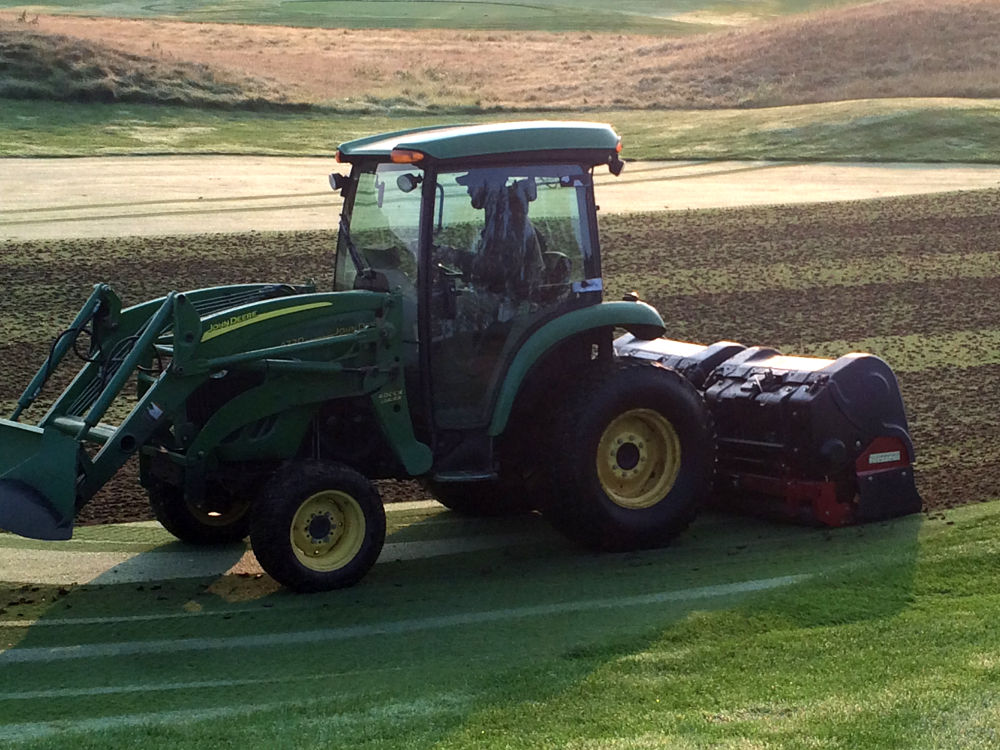 Aerification Tractor