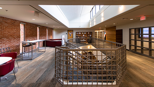 Inside center for Experiential Learning & Career Success lobby