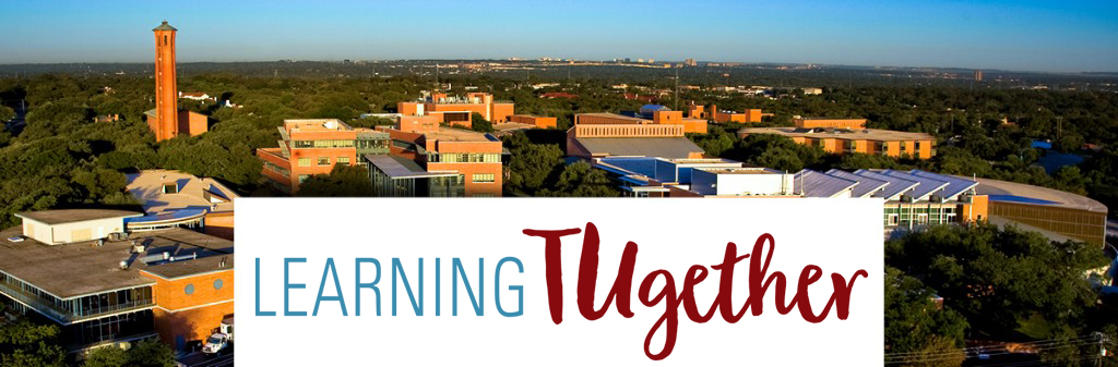 learning tugether logo with the campus skyline