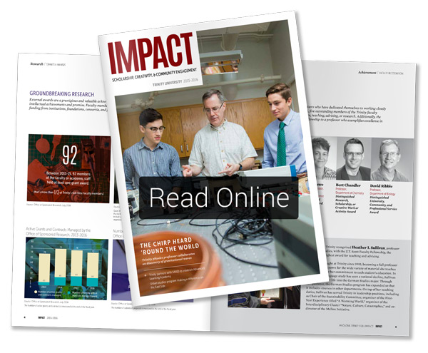 Read the IMPACT 2016 Trinity Magazine online