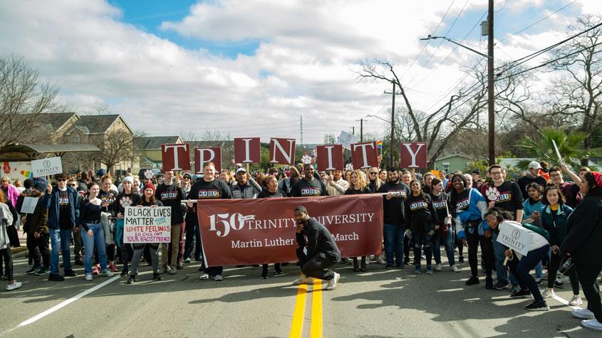 trinity community at mlk march