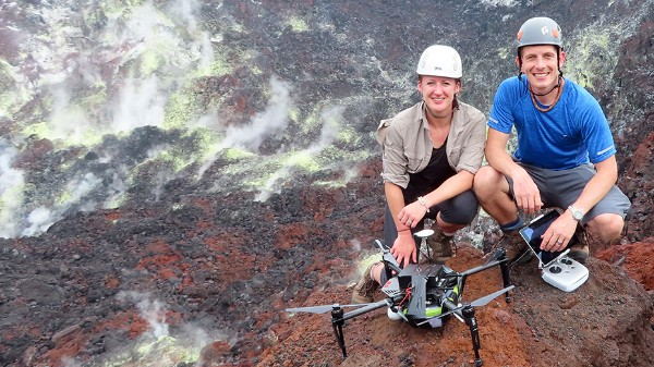 Emma Liu and Kieran Wood on Rabaul Volcano