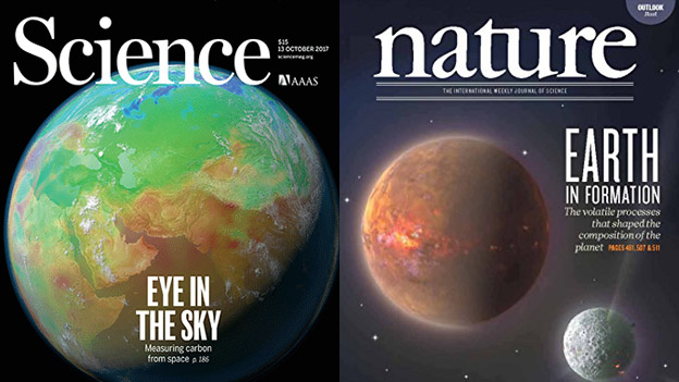 Deep carbon science on the covers of Science and Nature
