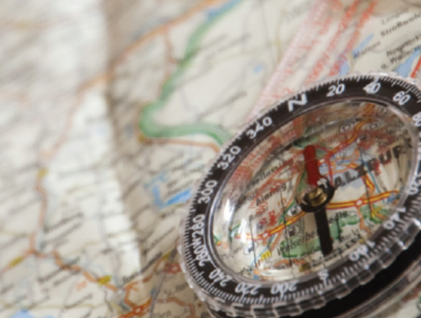 stock image of compass