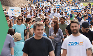 photo of participants at the JDRF One Walk