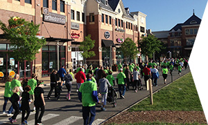photo of participants walking at the Loudoun Lyme Race