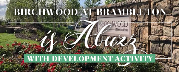 BIRCHWOOD AT BRAMBLETON is Abuzz WITH DEVELOPMENT ACTIVITY