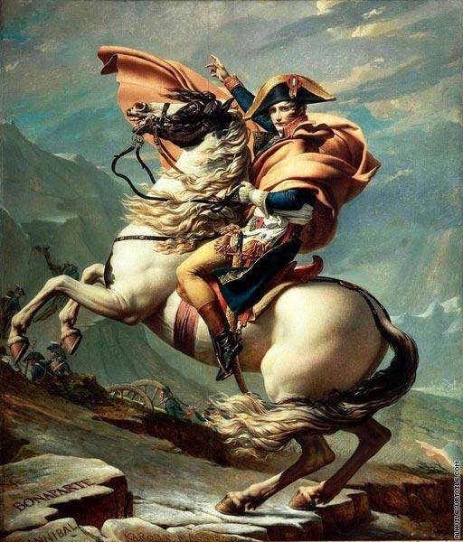 Napoléon franchissant les Alpes (David)