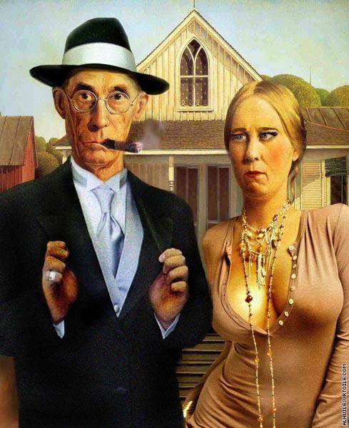 Gothique américain - Tenue correcte exigée (d'après Wood)