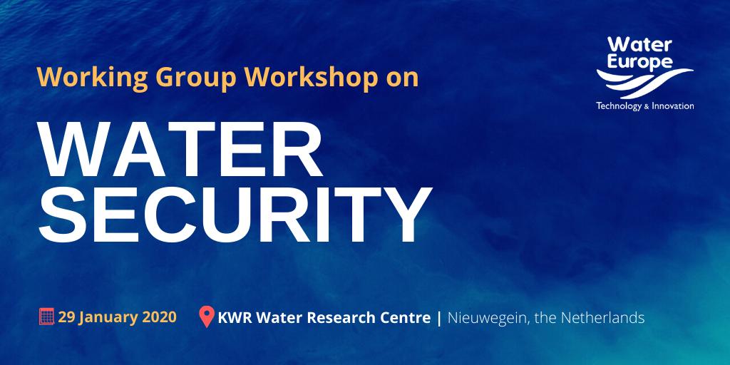 Water Europe Working Group Workshop on Water Security