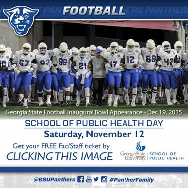School of Public Health Day at the Georgia State Football Game @ UL Monroe Georgia Dome  | Atlanta | Georgia | United States