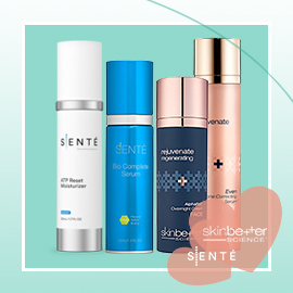 Love Your Skin:  SENTÉ® and skinbetter science® Products Buy 1 Product, Get the 2nd Product Half OFF