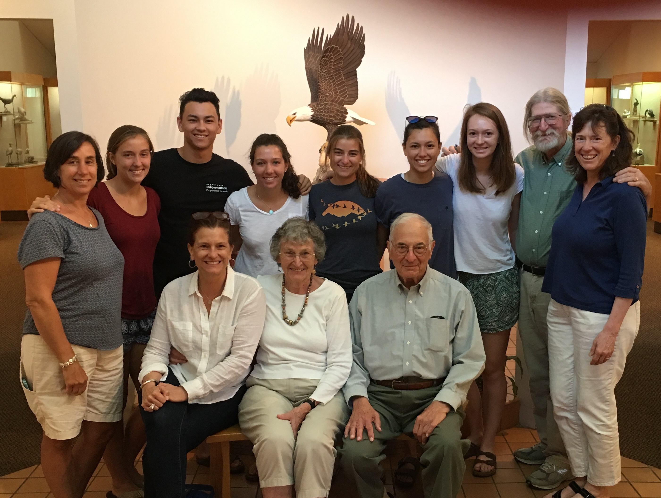 Whitfield Painter family visit the Museum