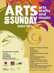 Arts on Sunday Festival series art for arts sake
