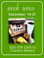 Camino Bakery local holiday gift giveaway
