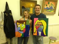 merlot van gogh paint your date class valentine