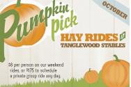 Pumpkin pick hay ride Tanglewood Farms