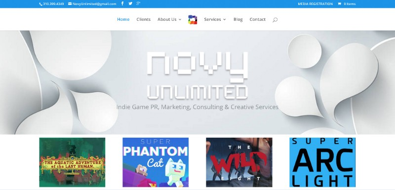 Novy Unlimited (homepage)