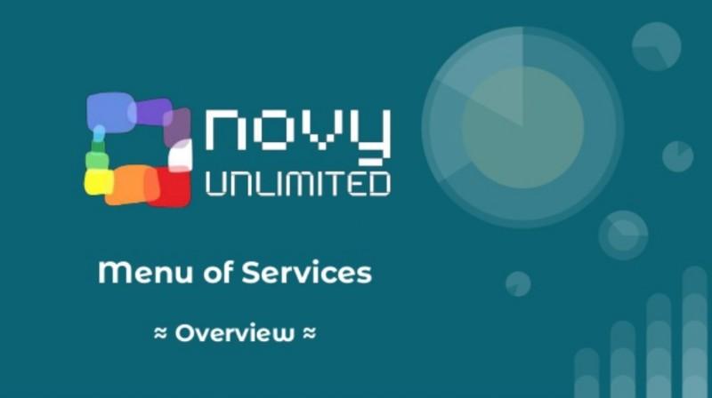 Novy Unlimited - Menu of Services