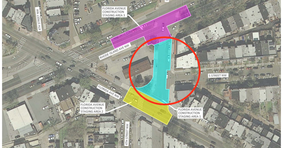 Florida Avenue NW Construction Site Map