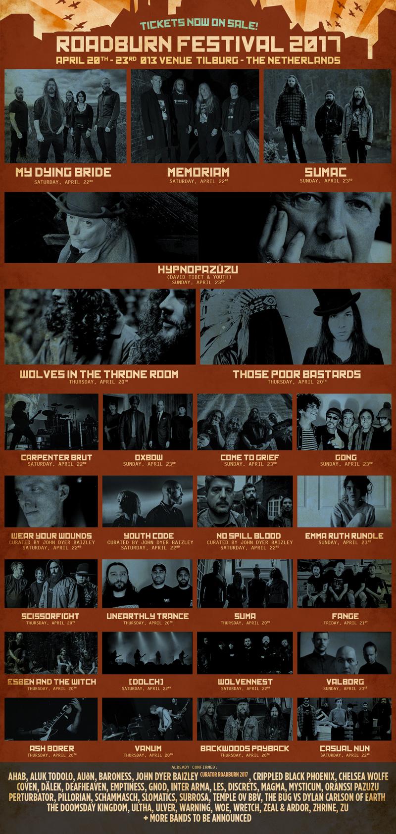 Twenty six new bands added to the Roadburn 2017 line up