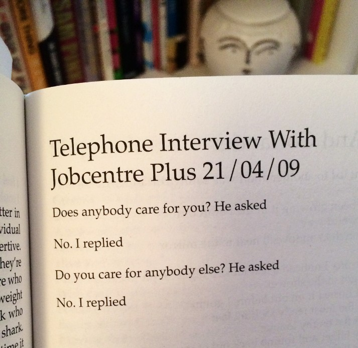 [Telephone Interview With Jobcentre Plus 21/04/09 by Rob Auton]