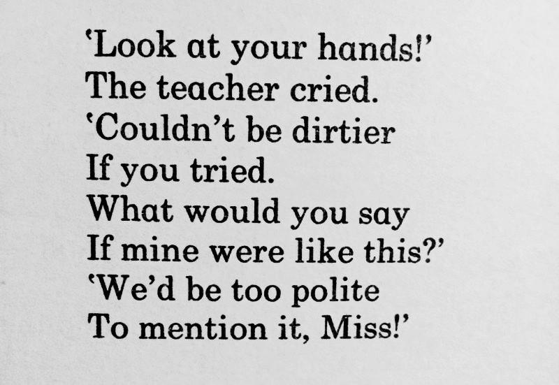 [Old Joke by Allan Ahlberg]