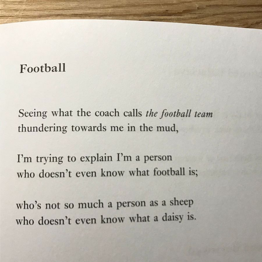 [Football by Selima Hill]