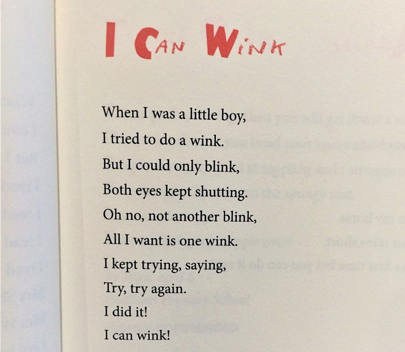 [I Can Wink by Gabriel, Aged 6]