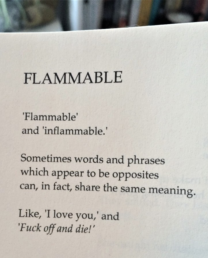 [Flammable by Tony Walsh]