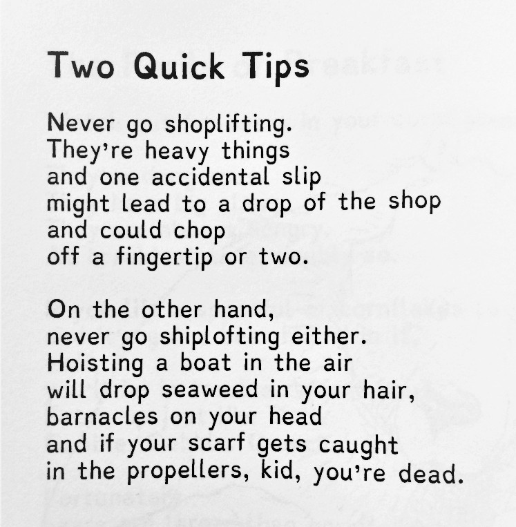 [Two Quick Tips by A.F. Harrold]