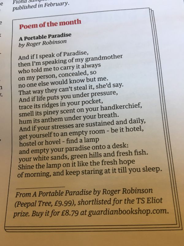 [A Portable Paradise by Roger Robinson]